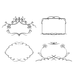 floral decorative frames - set vector image