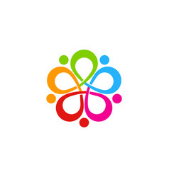 flower people logo icon design vector image
