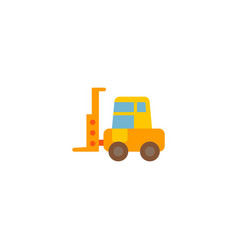 forklift icon flat element of vector image