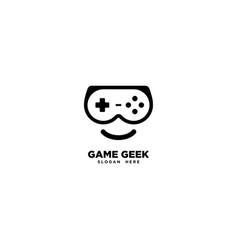 Game geek logo template vector