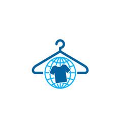 Globe laundry logo icon design vector