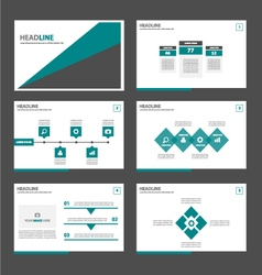 Green and black presentation templates infographic vector
