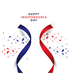Happy independence day template design vector