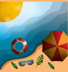 Happy summer vacations vector
