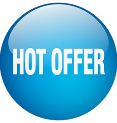 Hot offer blue round gel isolated push button vector