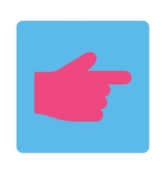 Index Finger flat pink and blue colors rounded vector