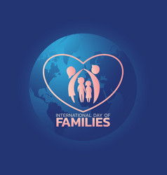 international day families logo icon design vector image