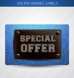 Jeans special offer label vector