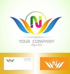Leter N swoosh logo vector