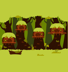 little forest village vector image
