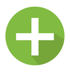 medical cross icon cross sign vector image