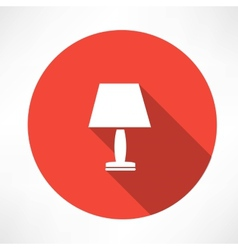 Nightlight lamp icon vector