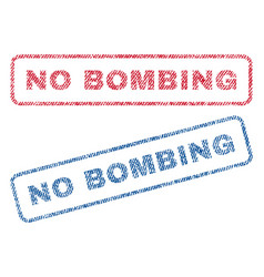 No bombing textile stamps vector