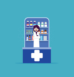 online medicine and pharmacy health care vector image