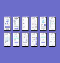 online pharmacy unique design kit for app vector image