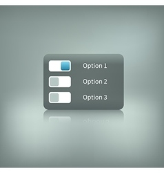 option switcher on background vector image