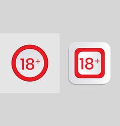 Over 18 years label tags for your content vector