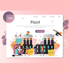 plant website landing page design template vector image