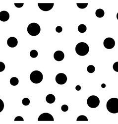 Polka dot black seamless pattern vector image