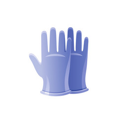 Ppe medical surgical gloves icon corona virus vector