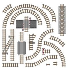 Railway parts - grey rails vector