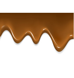 Realistic glossy chocolate flow vector