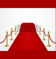 red carpet grand opening golden metal barriers vector image