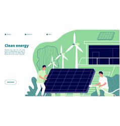 renewable power energy smart grid vector image
