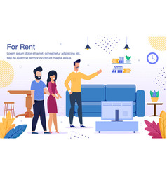 rental house or apartment flat banner vector image