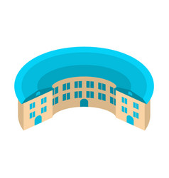 Round house circular yard architecture emblem vector