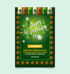 saint patrick s day poster brochure holiday vector image