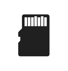 sd card bold black silhouette icon isolated vector image