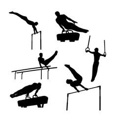 set group sports gymnastics vector image
