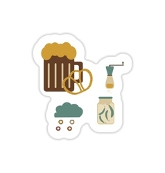 Set of paper stickers on a white background junk vector