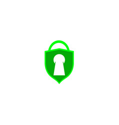 shield lock safety secure access guard password vector image