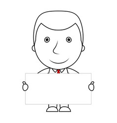 smiling businessman line of businessman holding a vector image