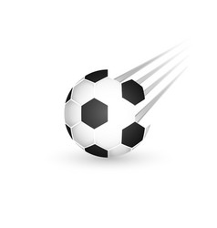 soccer ball isolated on a white background sport vector image