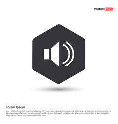 Speaker icon hexa white background icon template vector