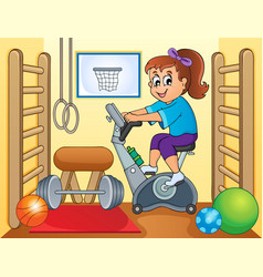 Sport and gym topic image 2 vector