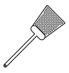 swatter icon outline line style vector image