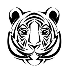 Tiger tribal tatto animal creativity design vector