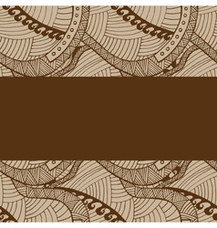 Vintage wave line and curl Hand-drawn pattern vector image