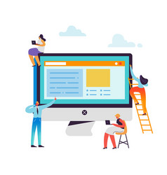 Website development concept web developers vector
