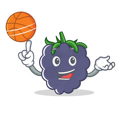 With basketball blackberry character cartoon style vector