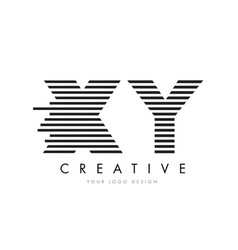 xy x y zebra letter logo design with black and vector image