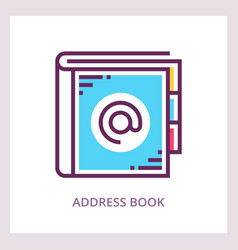 address book icon business concept vector image