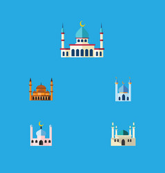 flat icon building set of islam mohammedanism vector image