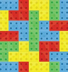 Pattern colorfull building blocks vector image