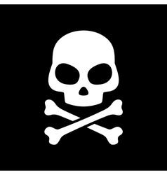 skull on black background vector image vector image