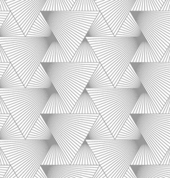 Slim gray hatched big and small triangles vector